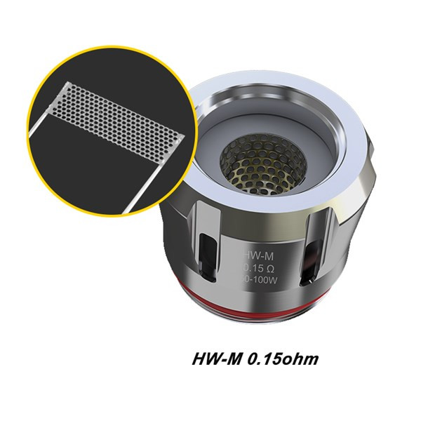 5 Pack Eleaf ELLO Mesh HW-M 0.15 Ohms Coil Atomizer Heads