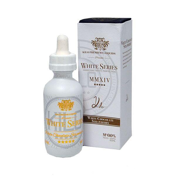 White Chocolate Strawberry E Liquid 50ml Shortfill by Kilo White Series (Zero Nicotine)