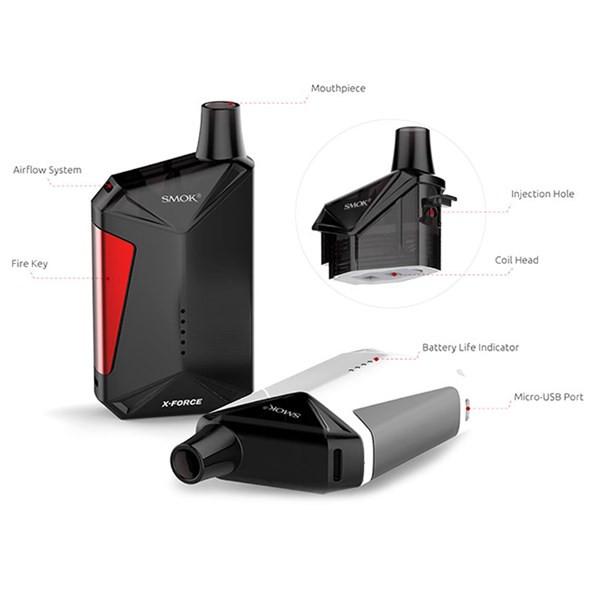 Smok X Force Pod Vaping Kit Characteristics