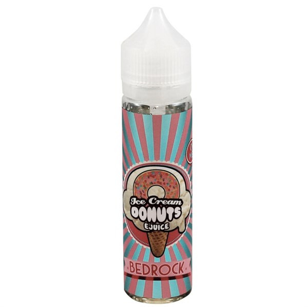 Bedrock Ice Cream Donuts E Liquid (60ml with 1 x 10ml nicotine shots to make 3mg) by Ice Cream Man E Liquid Only £14.49 (Zero Nicotine)