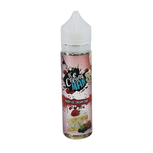 Berry Ice Cream Cake E Liquid (60ml with 1 x 10ml nicotine shots to make 3mg) by Ice Cream Man E Liquid Only £14.49 (Zero Nicotine)