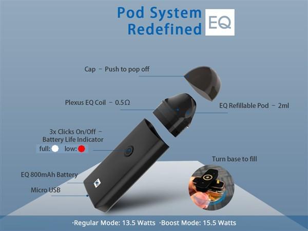 Innokin EQ Pod Mesh Coil Vape Kit inc Free E Liquids
