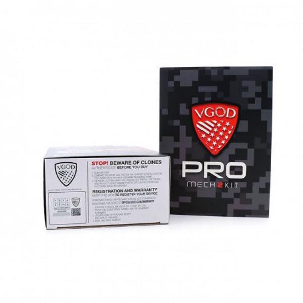 VGOD Pro Mech 2 Vape Kit inc Elite RDA Packaging