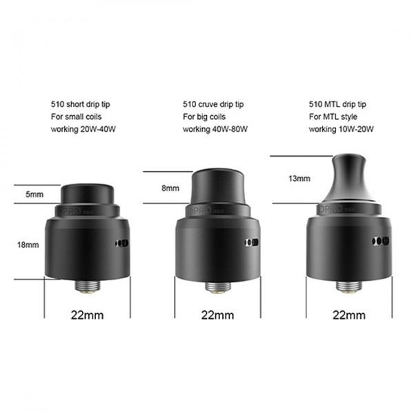 Coilart DPRO Mini RDA Drip Tips