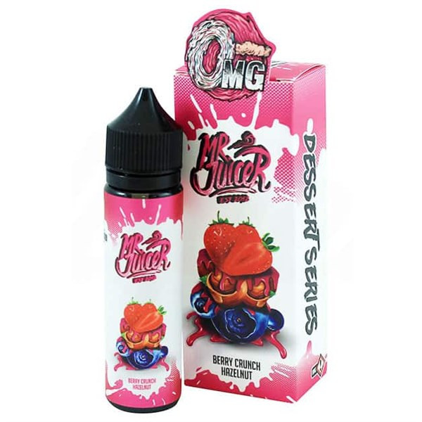 Berry Crunch Hazelnut 50ml E Liquid (60ml with 1 x 10ml nicotine shots to make 3mg) by Mr Juicer (FREE NICOTINE SHOT)