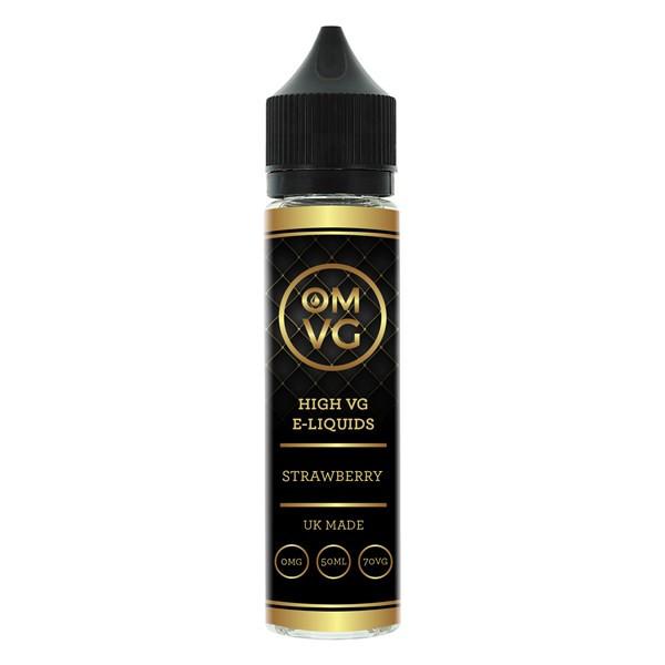 Strawberry E Liquid 50ml by OMVG (FREE NICOTINE SHOT)