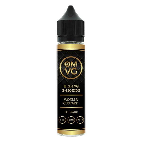 Vanilla Custard Shortfill E Liquid 50ml by OMVG (FREE NICOTINE SHOT)