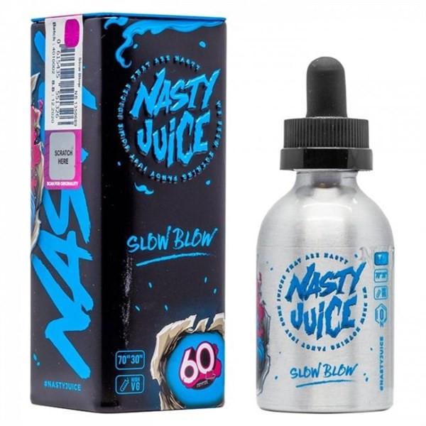 Slow Blow E Liquid 50ml(60ml with 1 x 10ml nicotine shots to make 3mg Shortfill by Nasty Juice