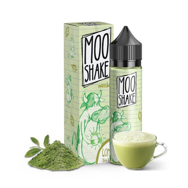 Matcha Green Tea Moo Shake E Liquid 50ml(60ml with 1 x 10ml nicotine shots to make 3mg Shortfill by Nasty Juice