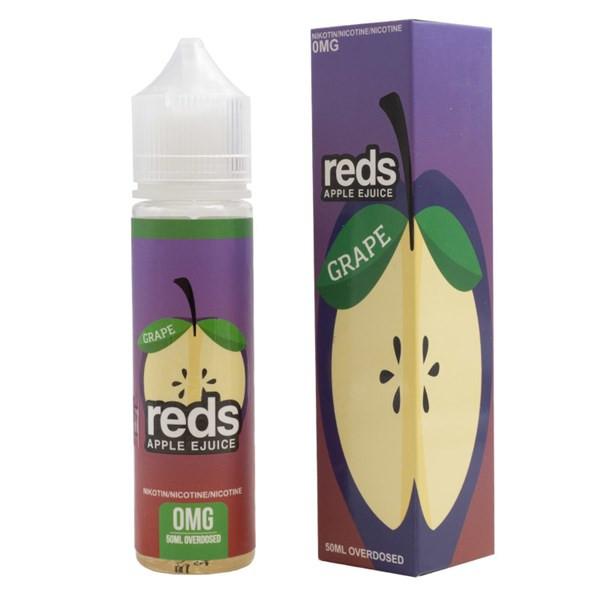 Grape E Liquid 50ml (60ml with 1 x 10ml nicotine shots to make 3mg) Shortfill by Reds E Juice - New Bottle Design