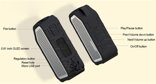 Wismec Active Box Mod Controls