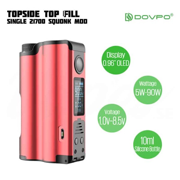 Dovpo Topside 90w Squonk Box Mod Specification