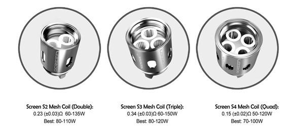 3 Pack Sense Screen Mesh Coil Types