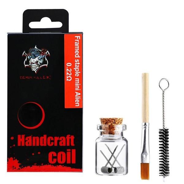 Demon Killer Handcraft Framed staple Mini Alien Prebuilt Wire Set Ni80 0.22 Ohms