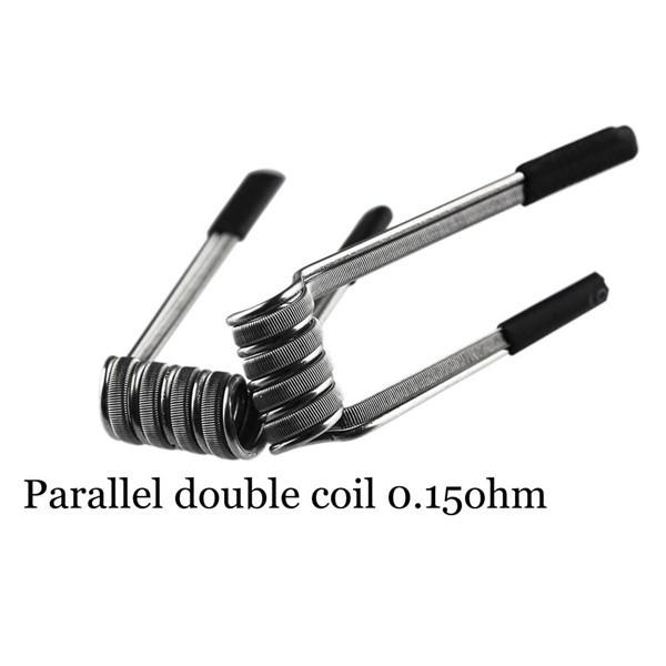 Demon Killer Handcraft Parallel Double Coil Prebuilt Wire Set Ni80 0.15 Ohms Coils