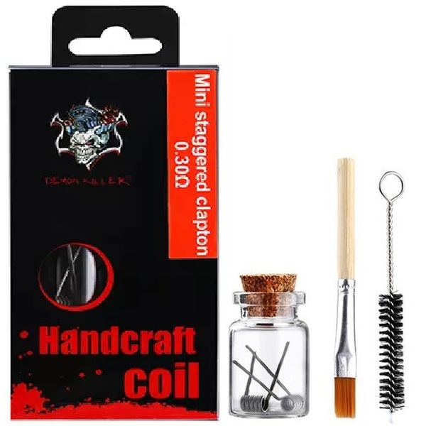 Demon Killer Handcraft Mini Staggered Clapton Prebuilt Wire Set Ni80 0.30 Ohms Packaging