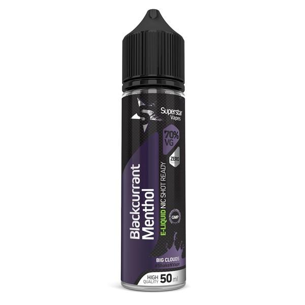 Superstar Vapes Blackcurrant Menthol Premium High VG (70/30) E Liquid 50ml