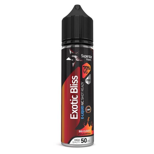 Superstar Vapes Exotic Bliss Premium High VG (70/30) E Liquid 50ml