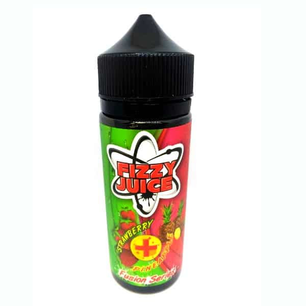 Fizzy Strawberry Pineapple 100ml Shortfill (120ml with 2 x 10ml nicotine shots to make 3mg) by Mohawk & Co E Liquids Only £13.49 (FREE NICOTINE SHOTS)