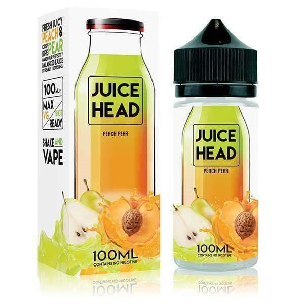 Peach Pear E Liquid 100ml (Zero Nicotine & Free Nic Shots to make 120ml/3mg) by Juice Head