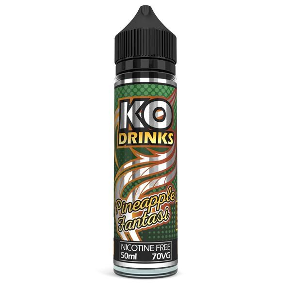 Pineapple Fantasi E Liquid 50ml by KO Vapes (Includes Free Nicotine Shot)