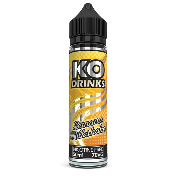 Banana Milkshake E Liquid 50ml by KO Vapes (Includes Free Nicotine Shot)