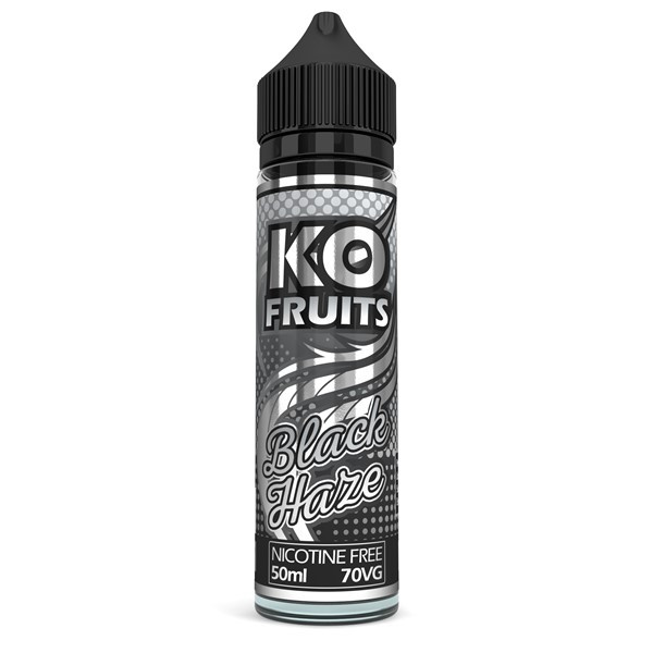 Black Haze E Liquid 50ml by KO Vapes (Includes Free Nicotine Shot)