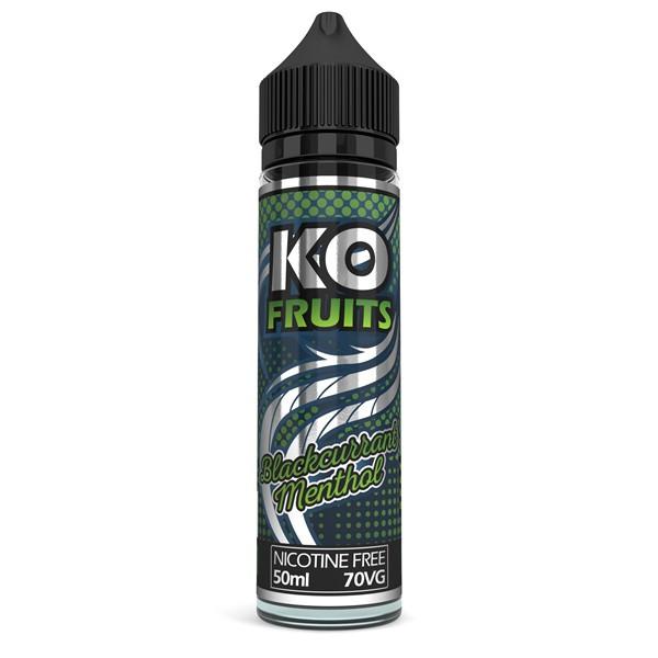 Blackcurrant Menthol E Liquid 50ml by KO Vapes (Includes Free Nicotine Shot)