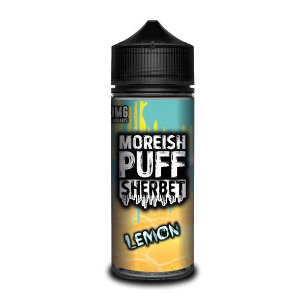Lemon Sherbet E Liquid (Zero Nicotine & Free Nic Shots to make 120ml/3mg) by Moreish Puff
