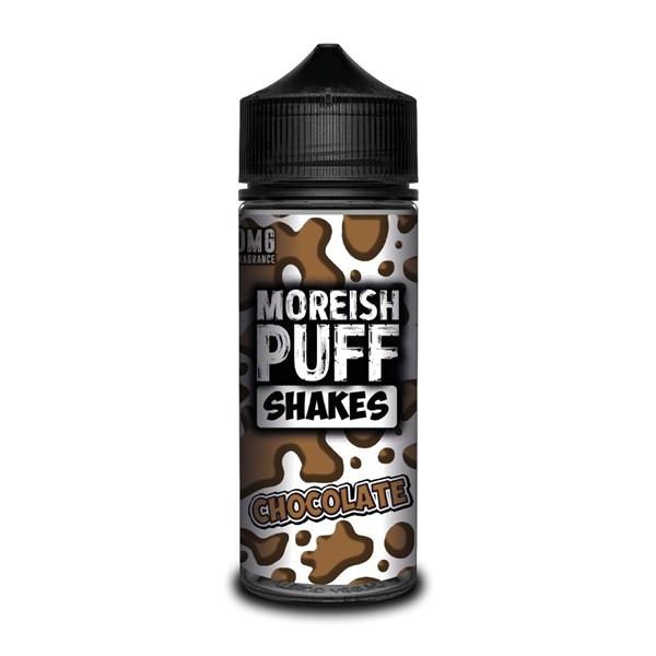 Chocolate Shakes E Liquid (Zero Nicotine & Free Nic Shots to make 120ml/3mg) by Moreish Puff