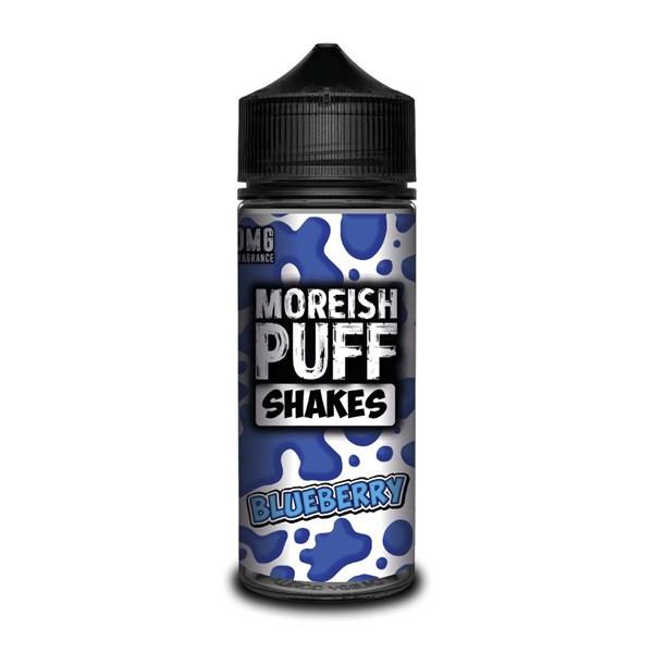 Blueberry Shakes E Liquid (Zero Nicotine & Free Nic Shots to make 120ml/3mg) by Moreish Puff