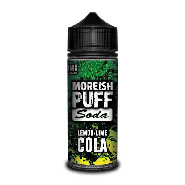 Lemon & Lime Cola E Liquid (Zero Nicotine & Free Nic Shots to make 120ml/3mg) by Moreish Puff