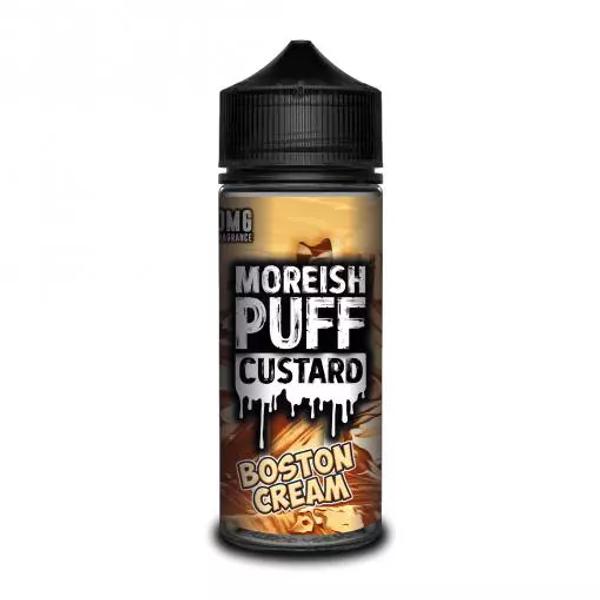 Boston Cream Custard E Liquid (Zero Nicotine & Free Nic Shots to make 120ml/3mg) by Moreish Puff