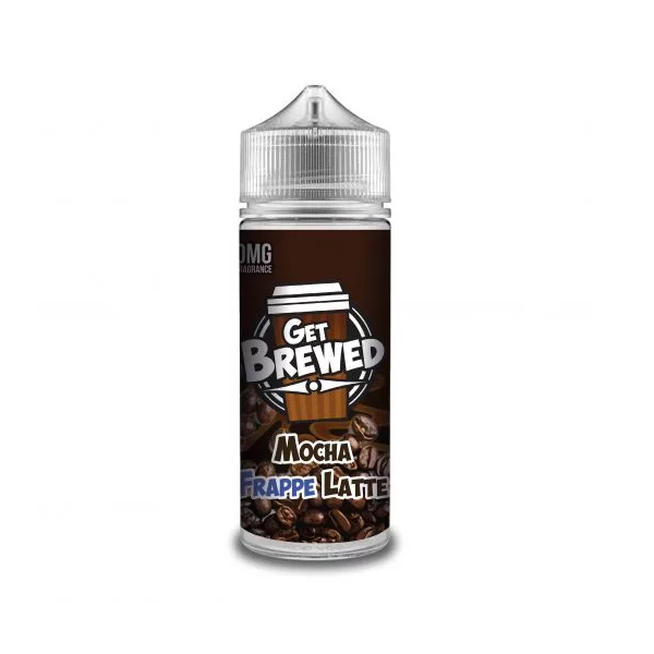 Mocha Frappe Latte E Liquid (Zero Nicotine & Free Nic Shots to make 120ml/3mg) by Get Brewed