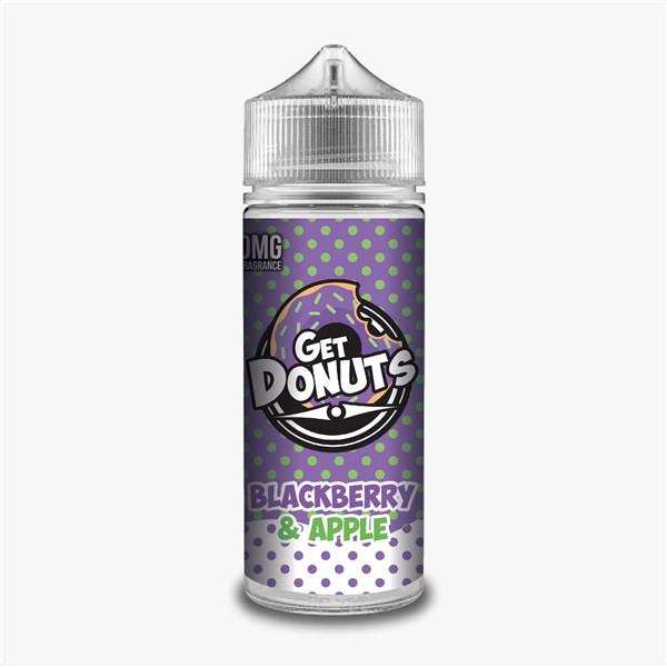 Blackberry & Apple E Liquid (Zero Nicotine & Free Nic Shots to make 120ml/3mg) by Get Donuts