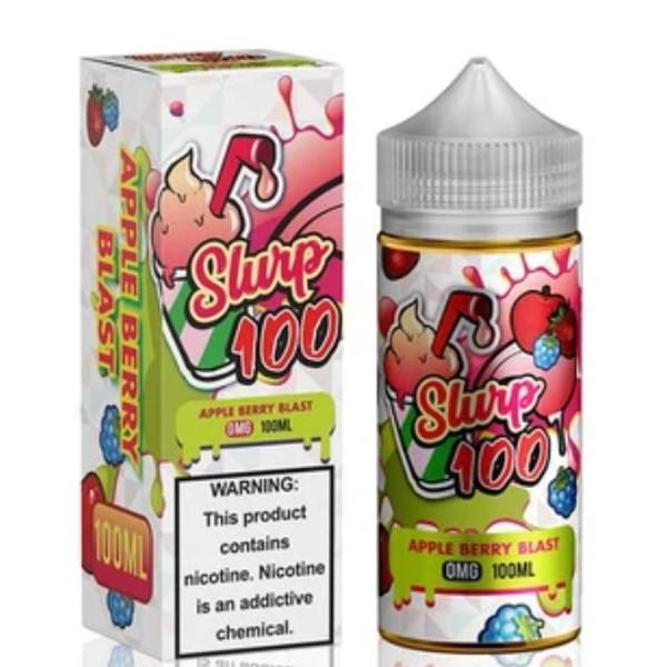 Apple Berry Blast E-liquid 100ml (120ml with 2 x 10ml nicotine shots to make 3mg) by Slurp 100 (Zero Nicotine)
