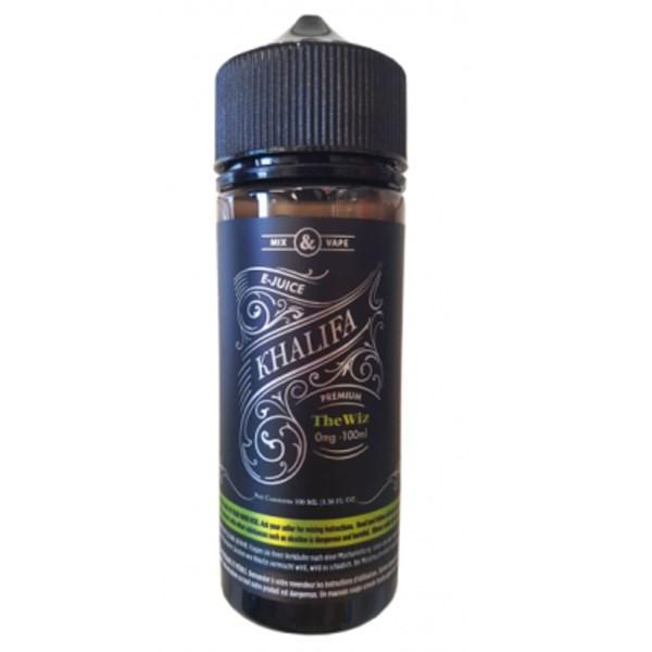 The Wiz E Liquid 100ml by Khalifa (Zero Nicotine & Free Nic Shots to make 120ml/3mg)