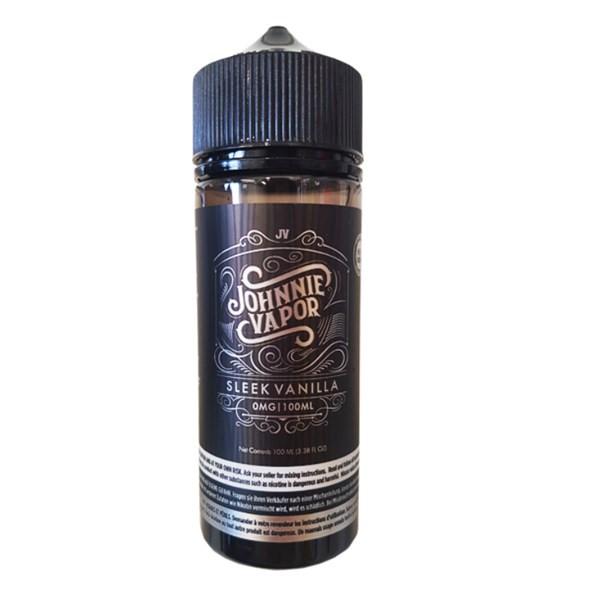 Sleek Vanilla E Liquid 100ml by Johnnie Vapor (Zero Nicotine & Free Nic Shots to make 120ml/3mg)