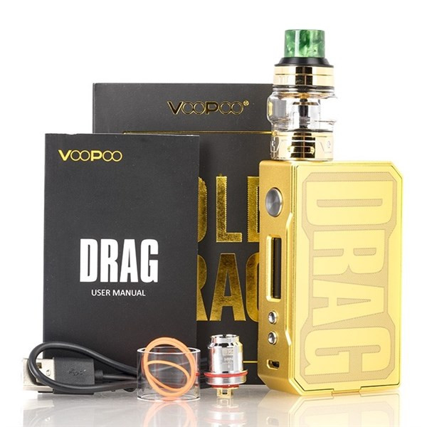 VooPoo-Drag-Gold Edition-Packaging & Contents