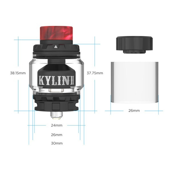 Vandy Vape - Kylin V2 - Dimensions