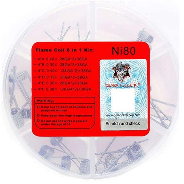 Demon Killer 6 in 1 Coils - N80 Back of Packaging