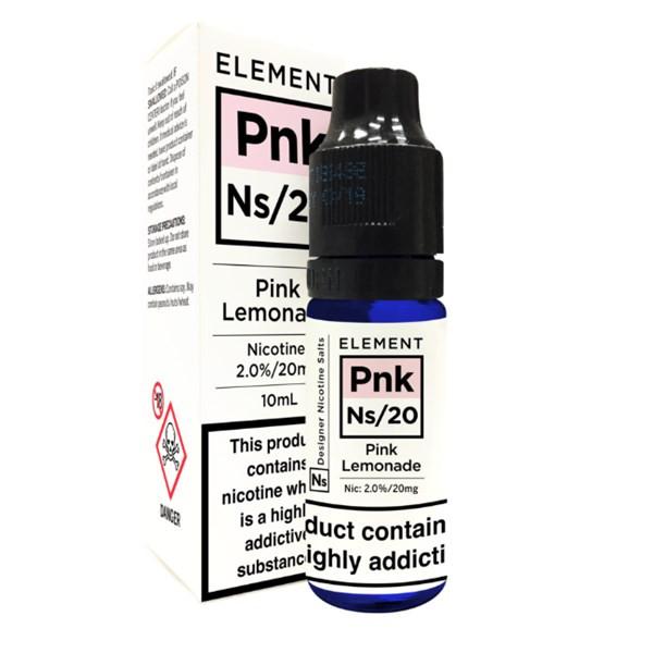 Pink Lemonade - Element NS20 - 20mg Nicotine Salts E Liquid - 10ML