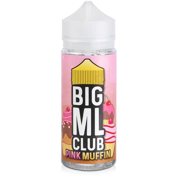 Pink Muffin E Liquid (Zero Nicotine & Free Nic Shots to make 120ml/3mg) by Big ML Club