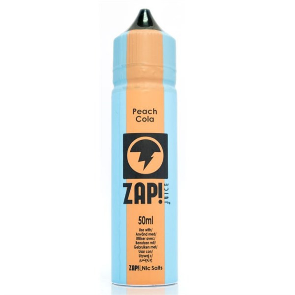 Peach Cola E Liquid 50ml by Zap! Only £9.49 (Zero Nicotine or with Free Nicotine Shot)