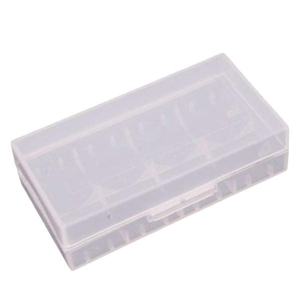Clear - Dual 18650 - Hard Plastic Battery Case - Closed