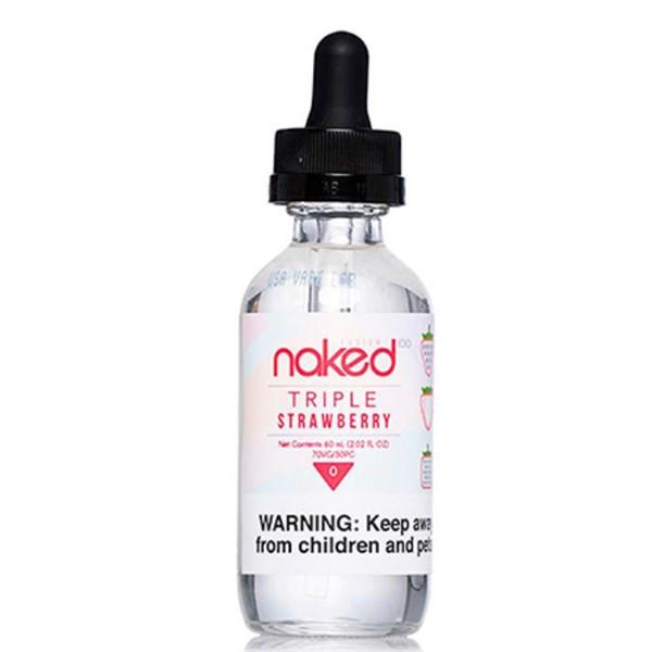 Triple Strawberry E Liquid 50ml Shortfill from Naked 100 Range (Zero Nicotine)