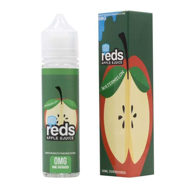 Watermelon Iced E Liquid 50ml (60ml with 1 x 10ml nicotine shots to make 3mg) Shortfill by Reds E Juice