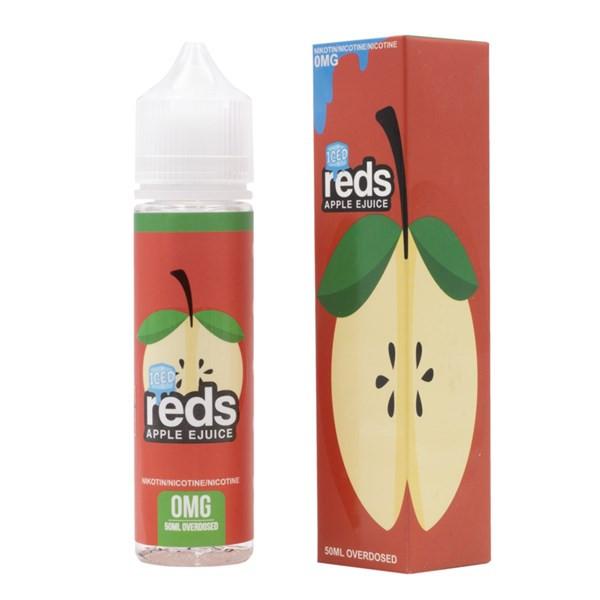 Apple Iced E Liquid 50ml (60ml with 1 x 10ml nicotine shots to make 3mg) Shortfill by Reds E Juice