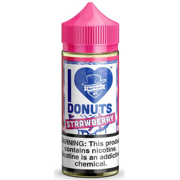 I Love Donuts Strawberry 80ml 0mg (Or 100ml 3mg With Use Of Free Nicotine Shots) By Mad Hatter