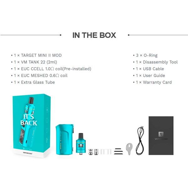 Vaporesso Target Mini 2 Starter Kit - Specifications